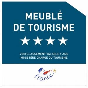 logo meublé de tourisme label 4 étoiles